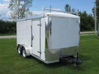 NEW MTI 7x14 enclosed cargo trailer, rear barn doors,