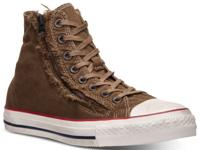 The Converse Chuck Taylor Double Zip Washed Canvas Hi