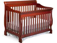 I have a convertible crib in dark cherry with Sealy