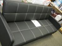 Delaney Convertible Sofa Bed With Arms- Black $199.00