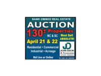 Bank Owned Real Estate Auction 130 +/- Properties in NC