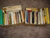 2 boxes of 50+ cookbook's in fair condition most are