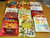 TWENTY ONE COOK BOOKS, LOW FAT, CHRISTMAS, COOKIES,