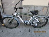 Cool Army Green Men's Beach Cruiser Bicycle Size 26