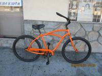 Cool Phat Orange Men's Beach Cruiser Bicycle Size 26