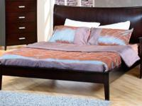This gorgeous platform bed will make a magnificent
