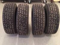 4 Cooper Discover AT3 tires. Size LT275-65R18. Less