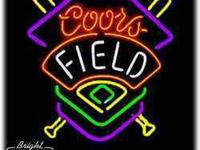 I have a classic, beer collectible: Coors Field neon