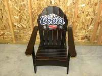 coors lounge chair all wood  Location: pueblo