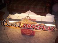 "FOR SALE IS A  HARD TO FIND ""COORS ORIGINAL"" TWO SIDED"