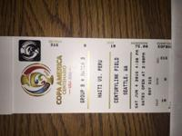 I have three seats to Haiti vs Peru on June 4, 2016 at