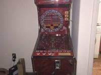 :;.Copa mundial pinball game machine..no trades no
