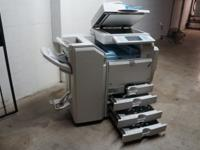 The Ricoh aficio MP C3500 is in ideal condition. Low