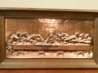 Copper relief of Jesus and 12 disciples at the Passover