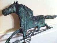 Old copper weathervane horse. Call Brad . Scammers