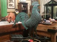 """Copper Rooster Weathervane On Sale 26"""" Wide x 6"""" Deep x"""