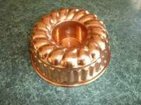 Copper cake mold. Great shape. $60 email or call