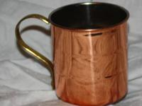 For Sale: Copper Coated Cup. It looks copper on the