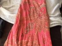 Coral floral women's dress Size 12 This ad was posted