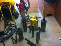 I have a core drill is like new and have 8 bits with