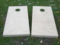 Two regulation size Corn Hole Boards ready for primer &