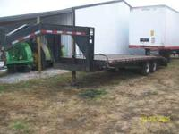 Corn Pro gooseneck trailer, 25 foot long adj beavertail