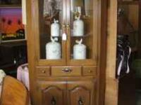 Nice Corner China Hutch $95 Common Cents Resale 898