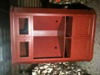 Pine Corner TV cabinet for sale. Excellent condition.
