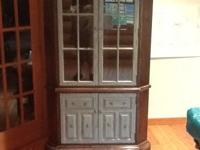 For Sale, Ethan Allen corner hutch, asking $100.00. Any
