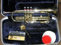 Conn cornet - Includes mute, 2 mouth pieces, music