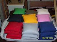 Cornhole bags. 17 different colors. Made of heavy duty