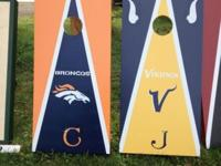 custom hand painted cornhole sets complete regulation