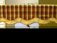 1 Brand CUSTOM MADE CORNICE BEAUTIFUL COTTON PLAID WITH