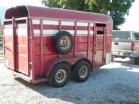 14' Corn Pro livestock trailer in very good usable