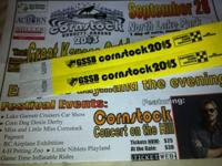 2-tickets to the Cornstock Festival Sept. 28th in