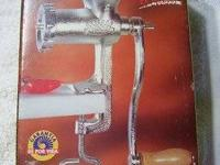Corona Meat Grinder with Sausage Funnel & Wooden Pusher