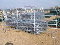 Green corral panels ; 8 ft for $ 70 ; 10 ft for $ 75 ;