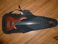 This is a Cort Curbow 5 string Bass with a Ritter Gig