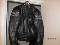sport vented leather jacket with 1.2-1.3mm leather.