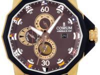 Gents Corum Admirals Cup in 18k rose gold & black