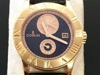New Corum Romvlvs. Two year factory warranty. 18K Rose