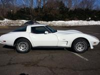 1979 Corvette. White with Red Leather interior.Numbers