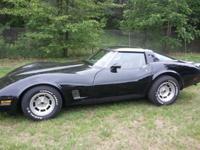 1981 Corvette- 350/Auto, 75K miles Factory Black (Needs