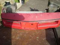 84 corvette front bumper complete with lights, rebar,