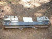73 TO 84 REAR BUMPER WITH TAIL LIGHT SUPPORTS, NO