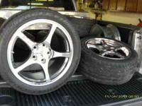 2000 style corvette rims and tires.. good tread.. there