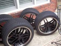 corvette wheels and tires for sale ..Z06 black rims