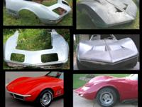 Lots of new custom and stock corvette parts, hoods