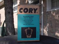 Like new coffee percolator. Cory 8-30 cups Model AP30S