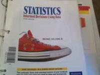 Like new loose-leaf statistics book in binder. DOES NOT